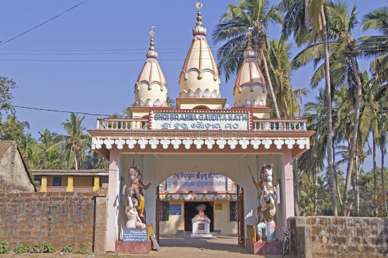 Shri Brahma Gaudiya Math-tempel royalty-vrije stock fotografie
