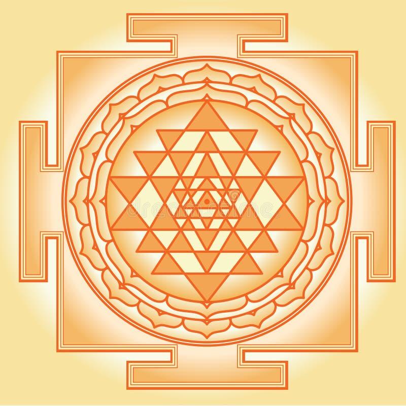 Shri Chakra Yantra vector illustration