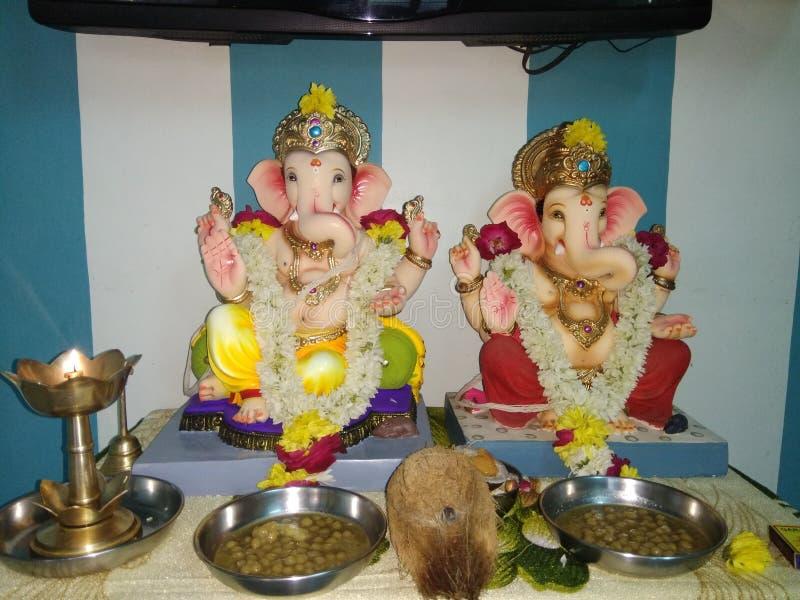 Shri-ganesh Statuensonne von shiva stockfoto
