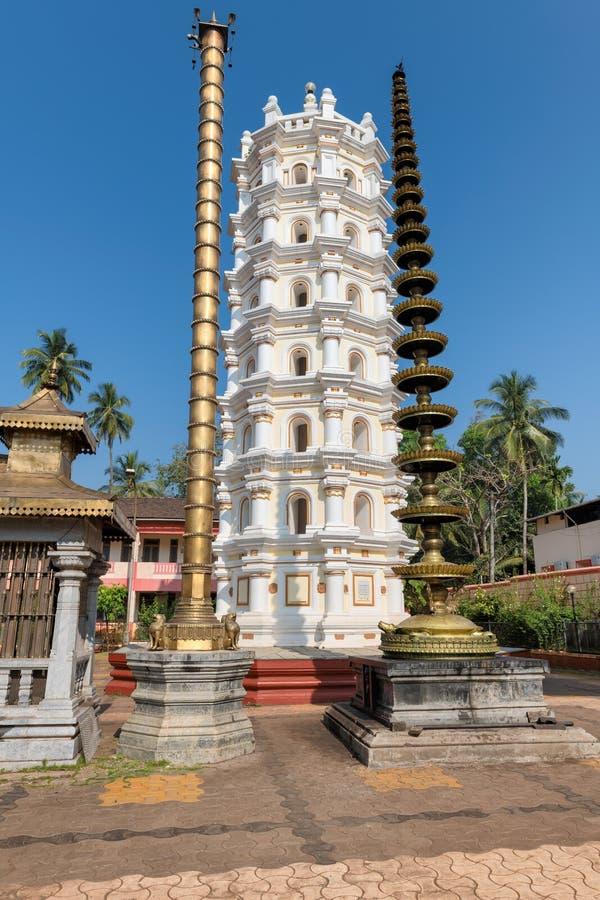 Shri Mahalsa Indiańska Hinduska świątynia w Ponda, GOA, India fotografia royalty free