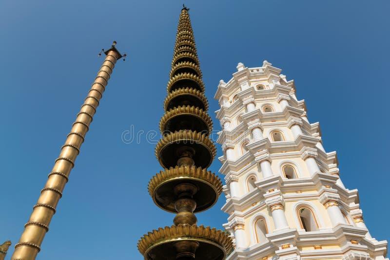 Shri Mahalsa Indian Hindu Temple in Ponda, GOA, India royalty-vrije stock fotografie