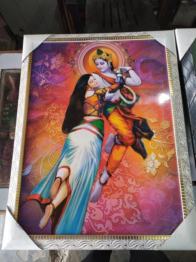 shri radha krishna canvas painting beautiful ji festival decoration occasion 168823991