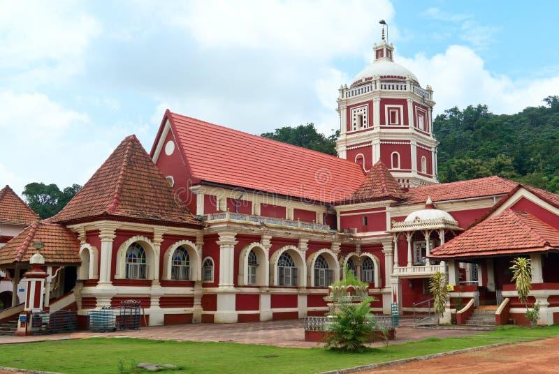 Shri Shantadurga, beroemde Hindoese Tempel in Ponda. Goa stock afbeelding