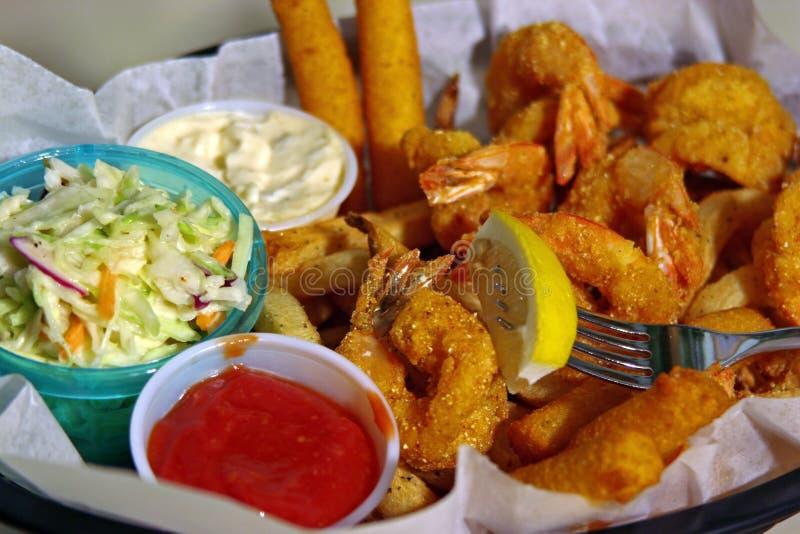 Shrimp Basket royalty free stock images