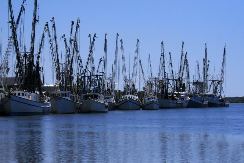 Download Shrimp boats docked stock image. Image of blue, coastal - 12716917