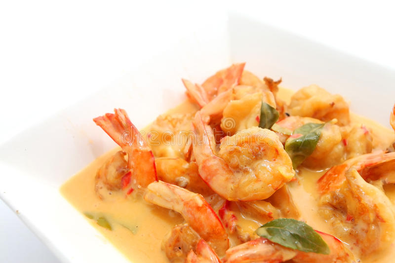 Shrimp in butter stock images