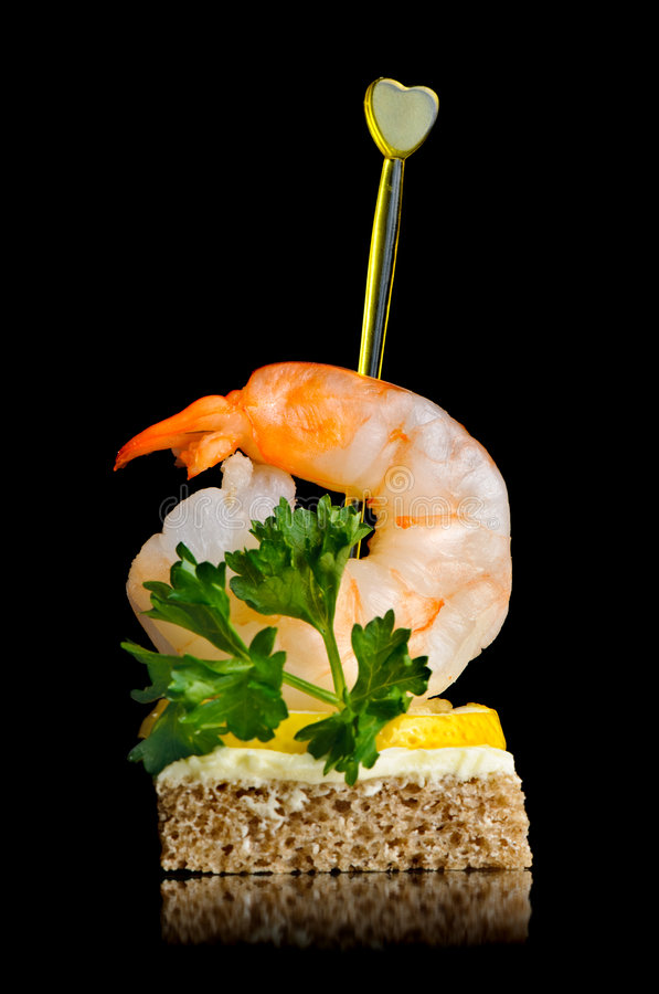 Download Shrimp canape stock photo. Image of design, delicious - 7181026