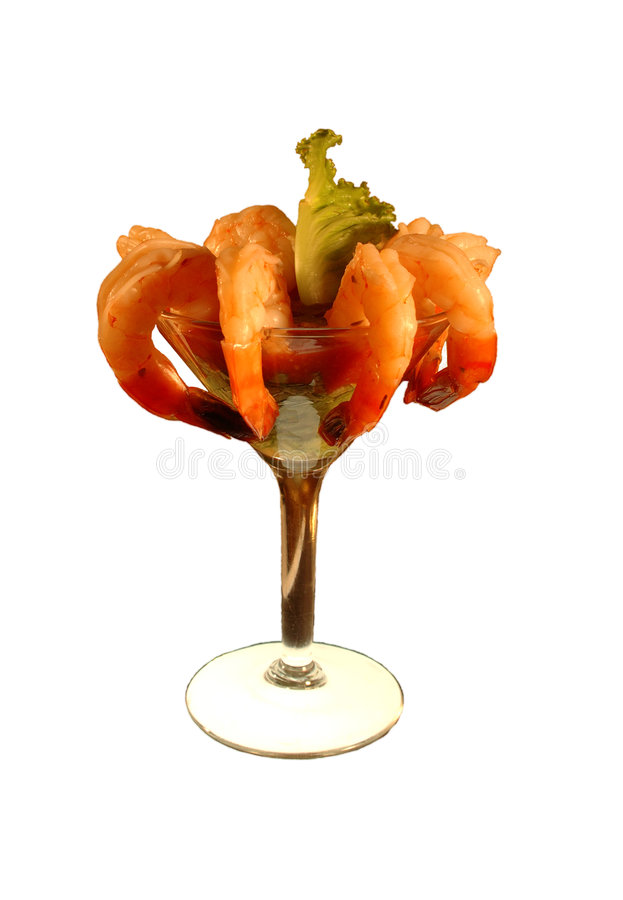 Shrimp cocktail isolation royalty free stock photography