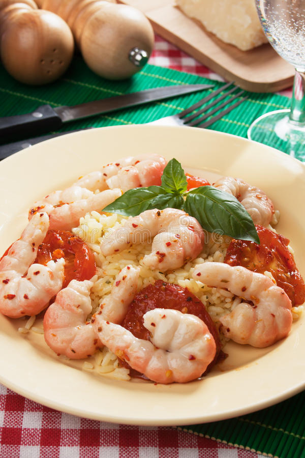 Download Shrimp with cooked rice stock photo. Image of seafood - 20618854