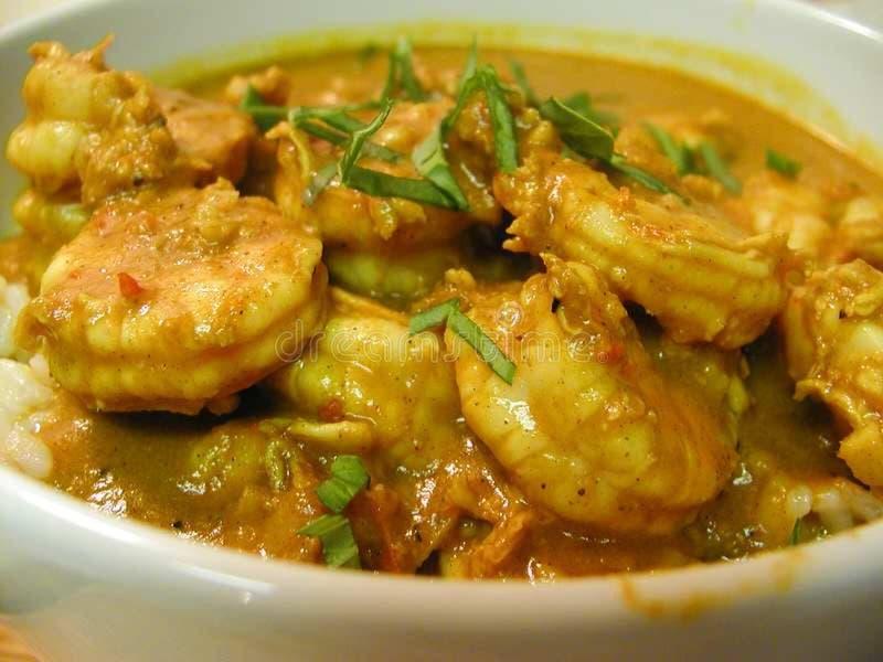 Shrimp Curry stock image