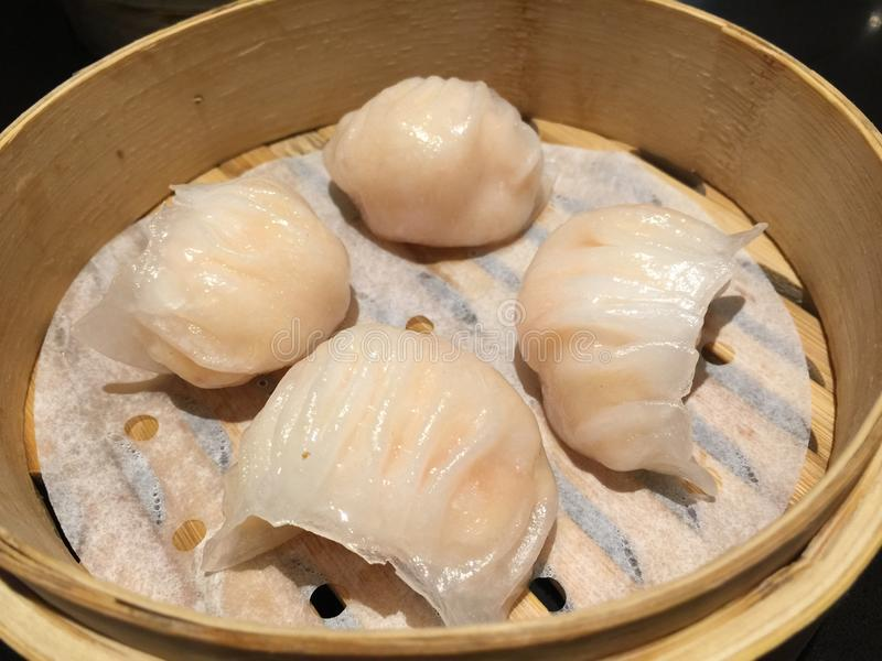 Shrimp dumpling dim sum. Chinese shrimp dumpling dim sum royalty free stock photography