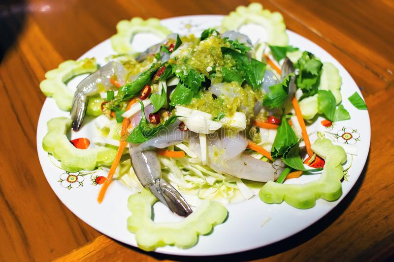 Shrimp in fish sauce is Thai food. stock images