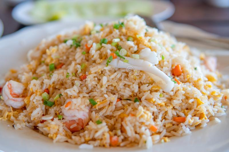 Shrimp fried rice stock images