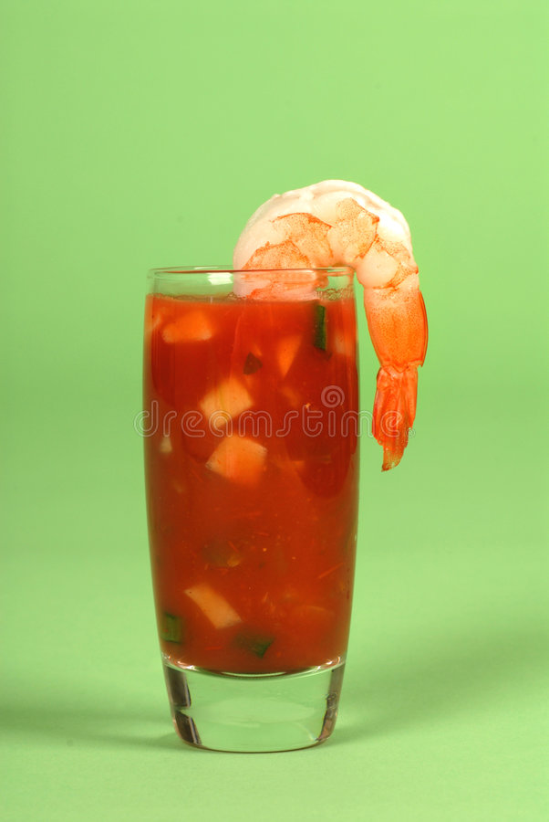 Shrimp on a glass