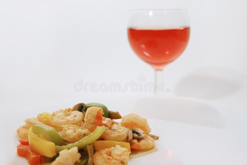 Shrimp Meal Free Stock Image