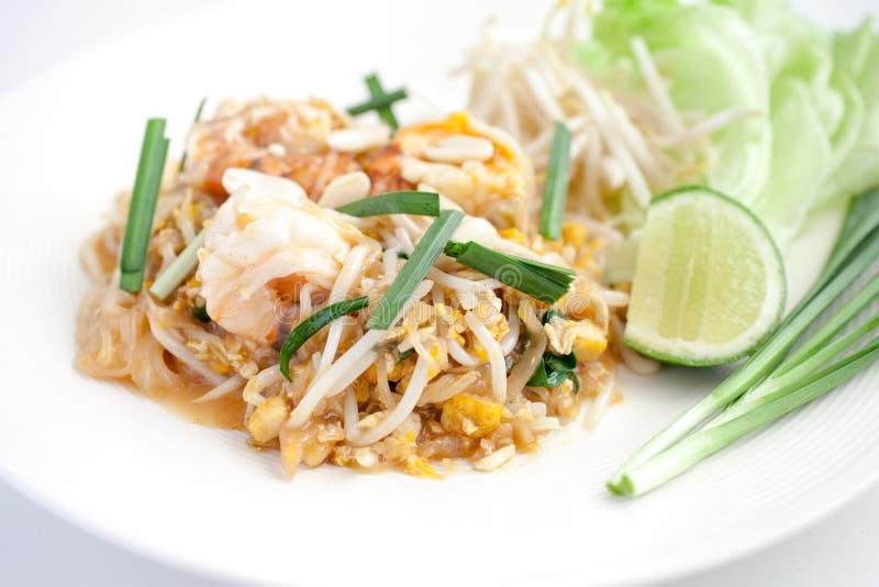 Shrimp Pad Thai. A Shrimp Pad Thai Dish royalty free stock images