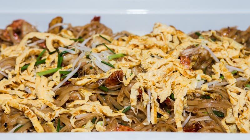 Shrimp Pad Thai. In restaurant stock images