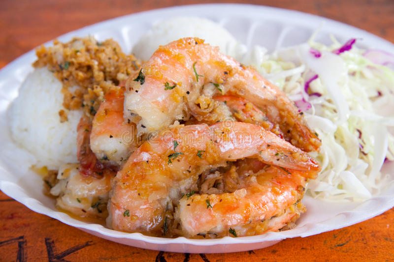 Shrimp Plate royalty free stock photo