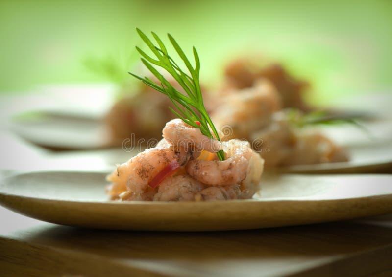 Shrimp plate stock photos