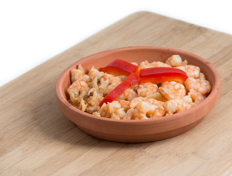 Download Shrimp Plate Or Dish Over Cutting Board Stock Photo - Image of prawn, recipe: 39509980