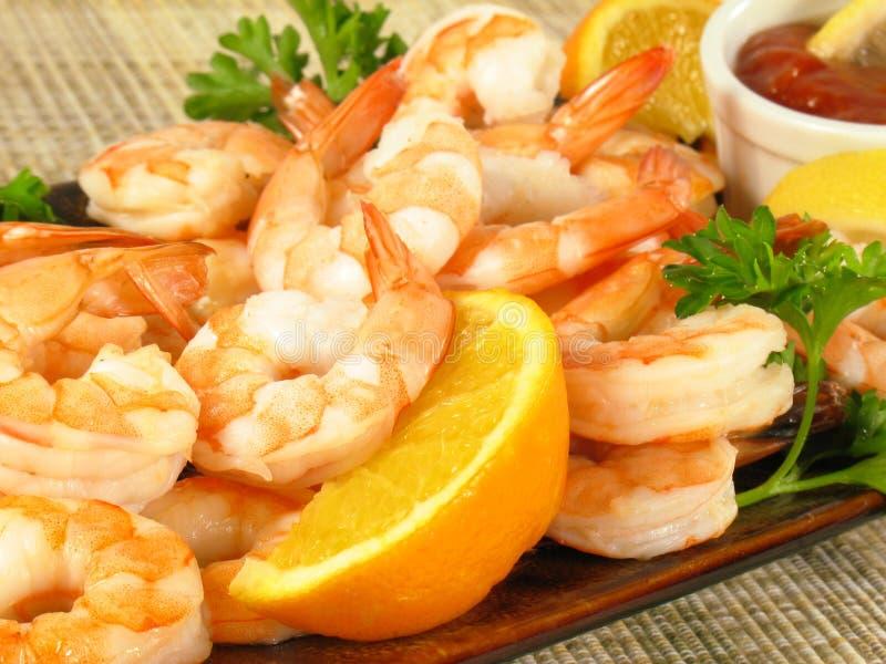 Shrimp Platter stock photos