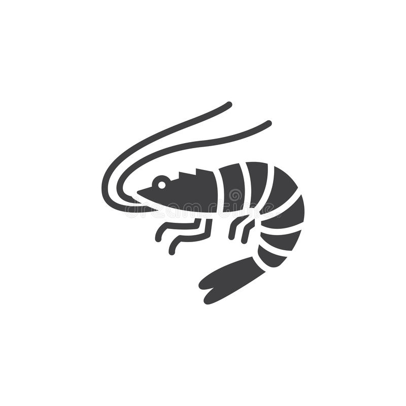 Free Shrimp, Prawn Icon Vector, Filled Flat Sign, Solid Pictogram Isolated On White Stock Images - 95429134