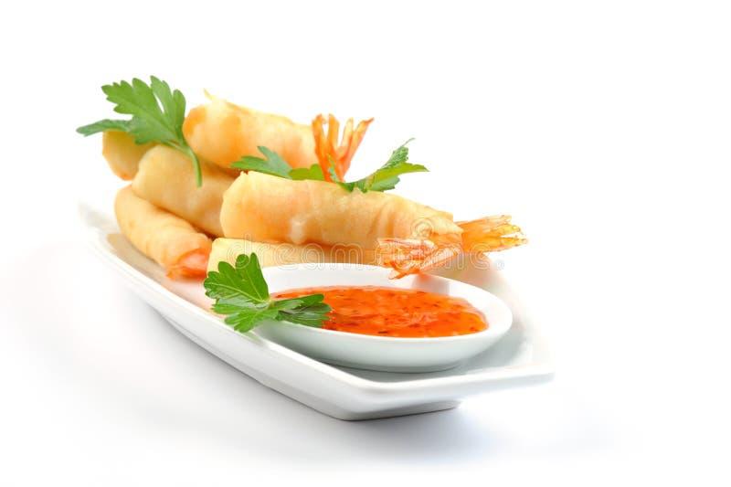 Shrimp Rolls royalty free stock image