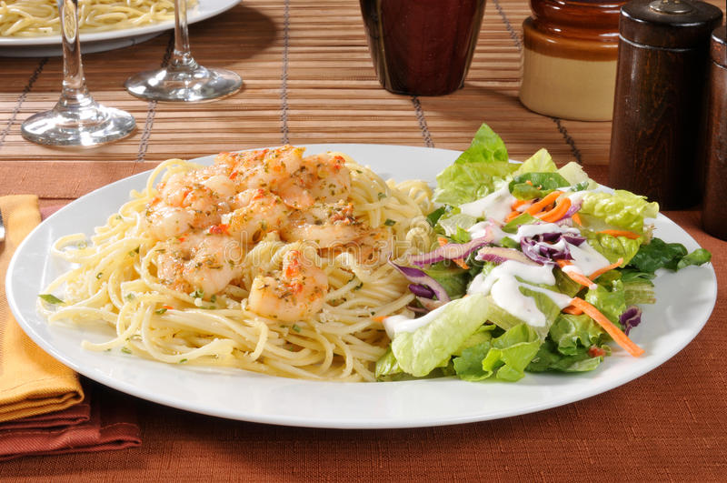 Download Shrimp and salad stock image. Image of lettuce, cuisine - 22904921