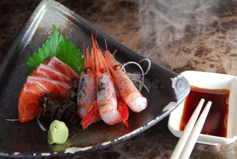 Shrimp Sashimi. Japanese Salmon fish Shrimp Sashimi royalty free stock image