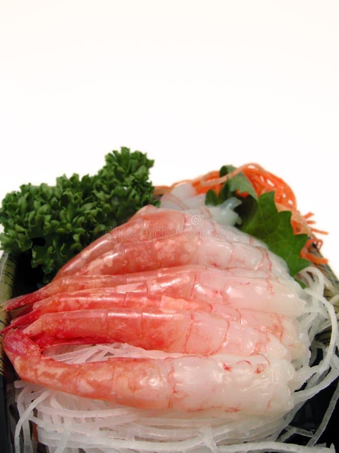 Shrimp sashimi stock images