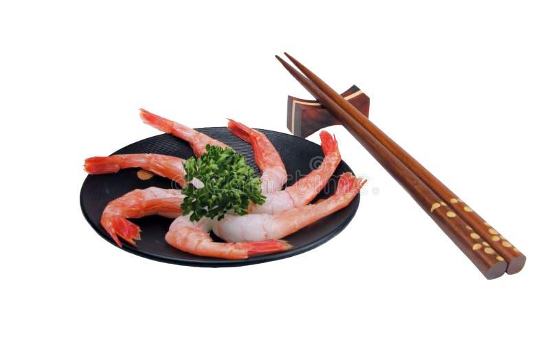 Shrimp sashimi still stock photos