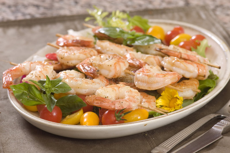 Download Shrimp On A Skewer Royalty Free Stock Photography - Image: 6309827