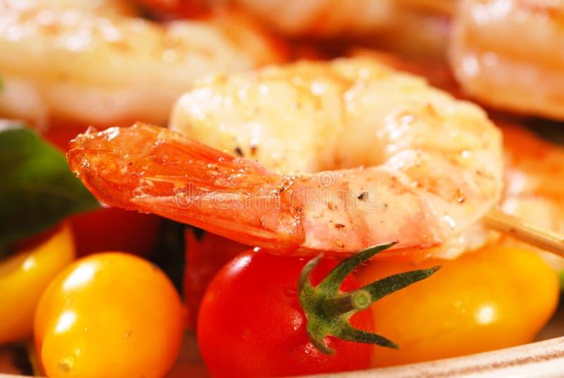 Shrimp Skewers royalty free stock images
