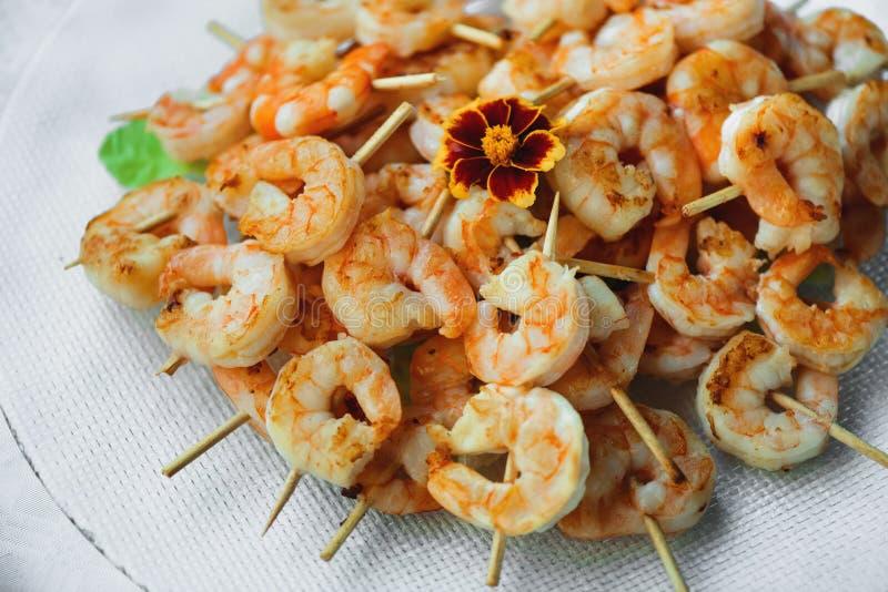 Shrimp spit royalty free stock photos