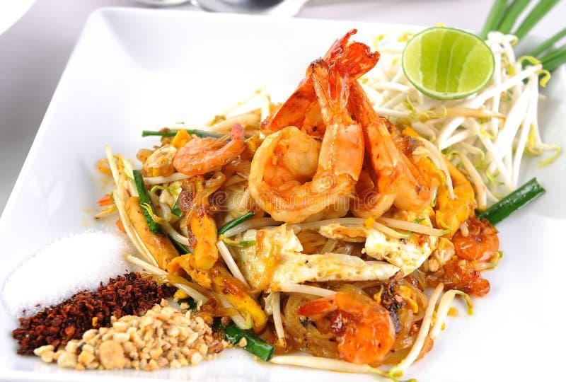 Shrimp stir-fried noodles. Thaifood stock photos