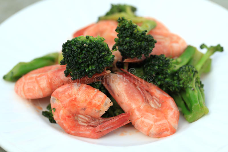 Shrimp Stir Fry royalty free stock images