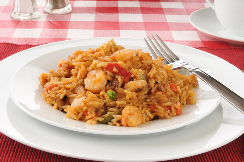 Shrimp stir fry royalty free stock photo