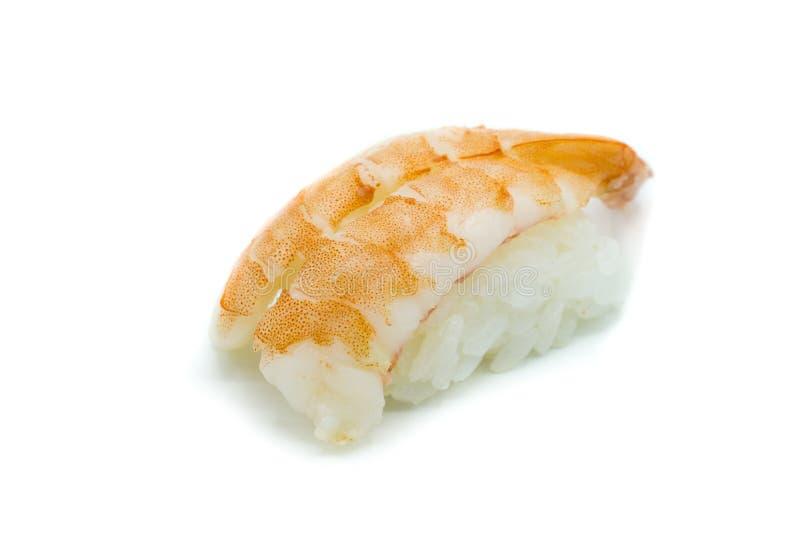 Shrimp sushi isolated on white background royalty free stock photo