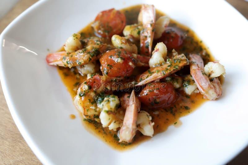 Shrimp in Tomato Sauce stock photo