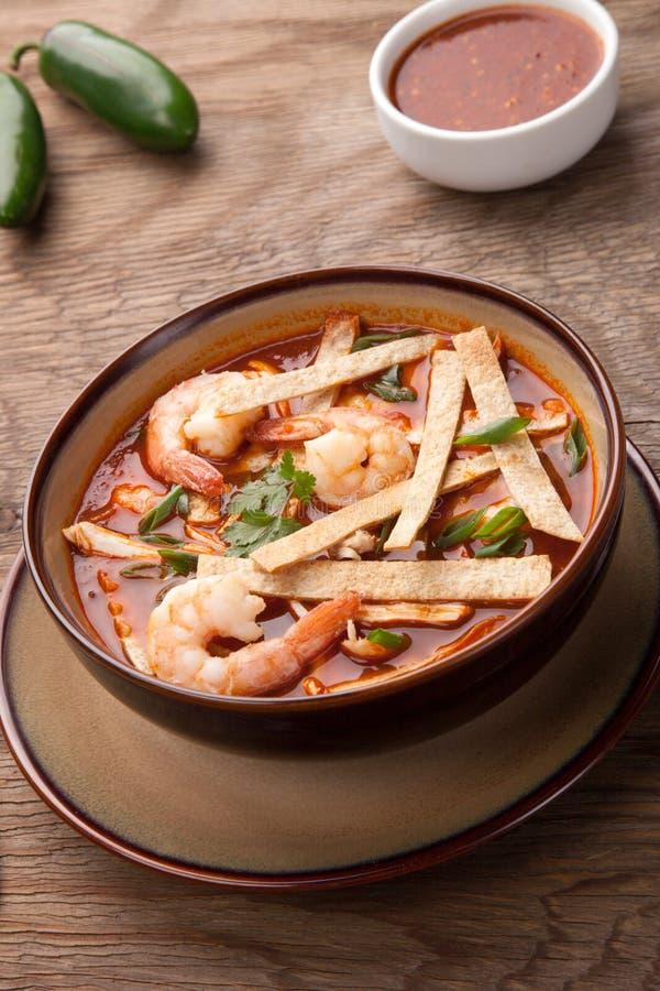 Download Shrimp Tortilla Soup stock photo. Image of chilli, prepared - 90693942
