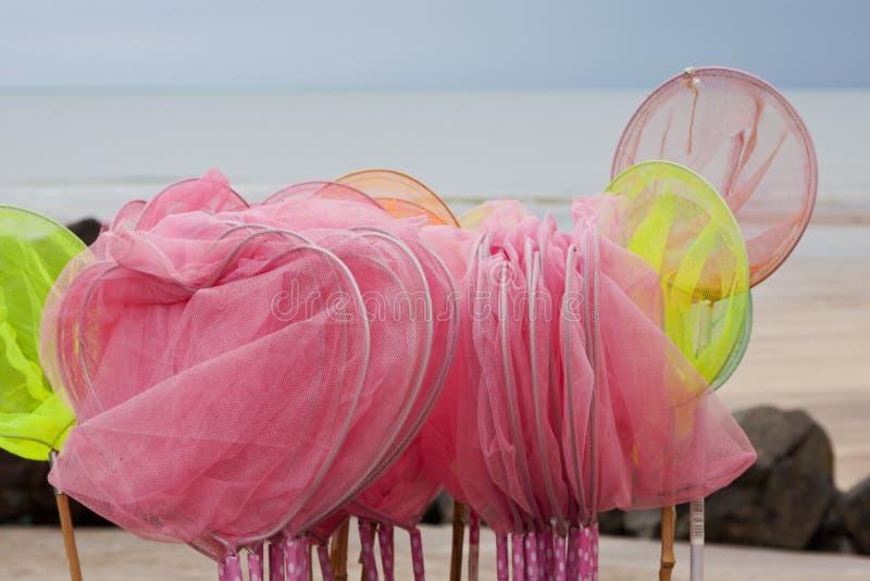 Shrimping-Netze stockfoto