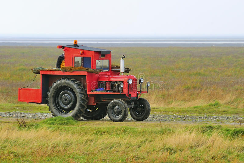 Download Shrimping Tractor, Southport Stock Image - Image: 28586189