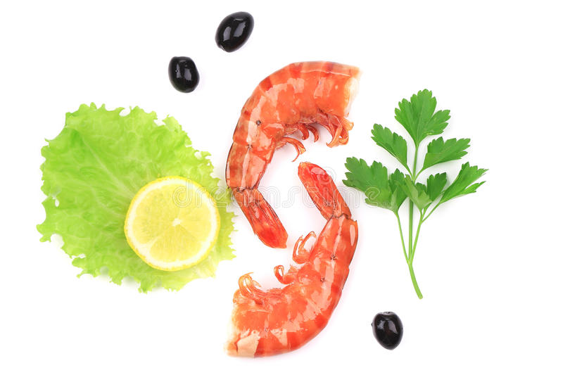 Download Shrimps close up on white. stock image. Image of protein - 38458955