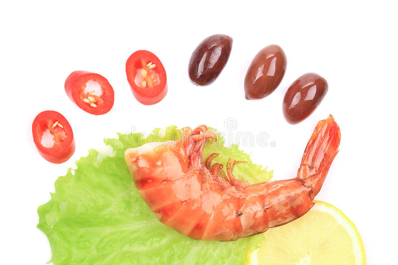 Download Shrimps close up on white. stock photo. Image of healthy - 38459162