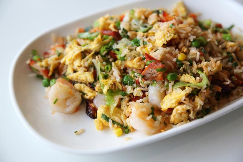 Shrimps fried rice , Chinese food. Shrimps fried rice in close up , Chinese food stock photos