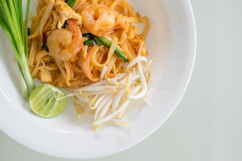 Shrimps Pad Thai (Thailand's national dishes) stock photo