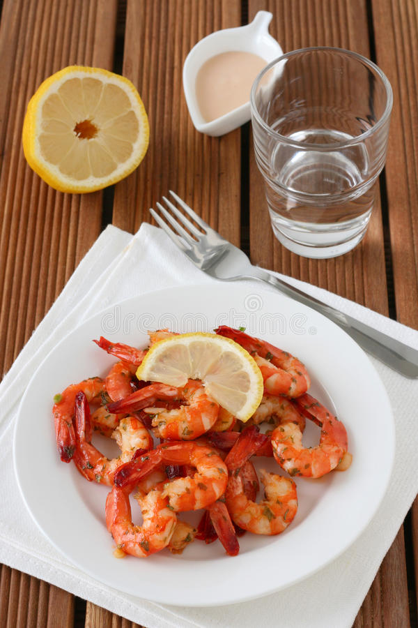 Download Shrimps with sauce stock photo. Image of sauce, diet - 22457672