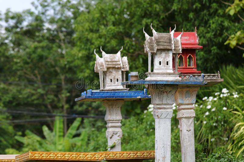 Shrine according to the Hindu. Belief that is worshiped in Thailand royalty free stock photo