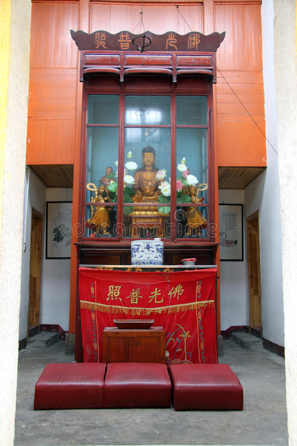 Shrine in buddhist temple
