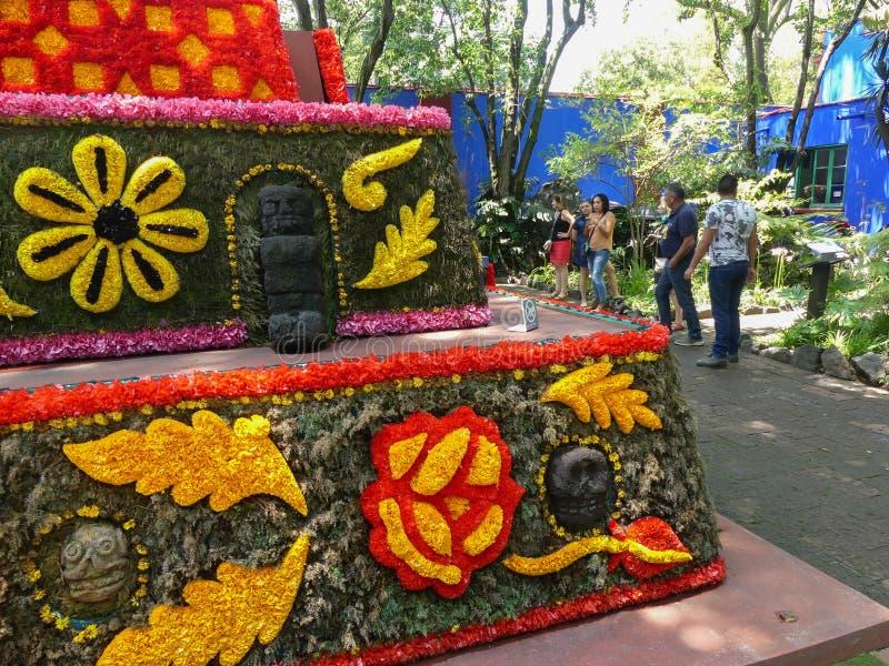 Shrine at Frida Kahlo`s House stock photography